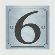 Classic Designs House Number Silver - No 6